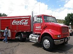 Echte Amerikaanse Coca Cola truck