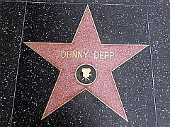 Ster van Johnny Depp op de Walk of Fame, Hollywood
