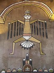 Muurschildering in de Watch Tower