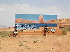 Ingang Glen Canyon Recreation Area