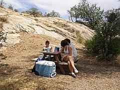 Een mooi picknickplaatsje even voorbij Prescott